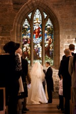 picture of wedding vows being taken. Click here to view a larger image (116k)