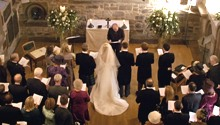 picture of wedding at the Priory